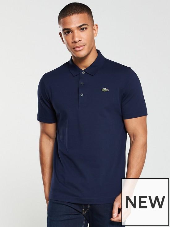 b12ececc91f158 Lacoste Plain Mens Short Sleeve Polo Shirt – Navy | very.co.uk