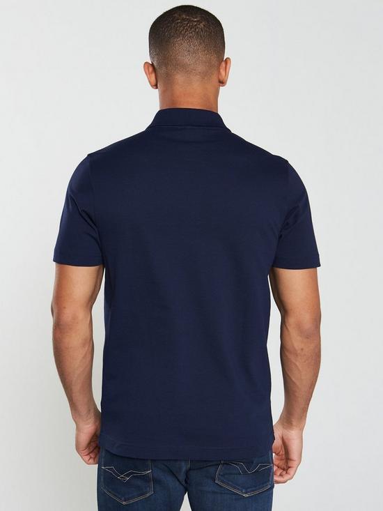 8125a741 Plain Mens Short Sleeve Polo Shirt – Navy
