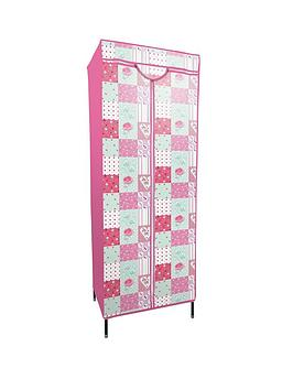 Photo of Printed patchwork fabric covered kids wardrobe