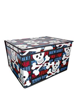 Photo of Printed keep out kids storage chest - large