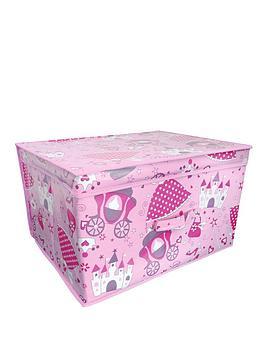 Photo of Printed princess kids storage chest - large