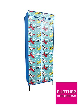 printed-planes-fabric-covered-kids-wardrobe