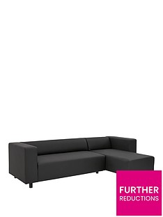 clarke-faux-leather-3-seater-right-hand-corner-chaise