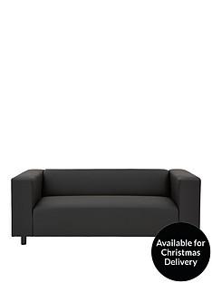 Clarke Faux Leather 3-Seater Sofa