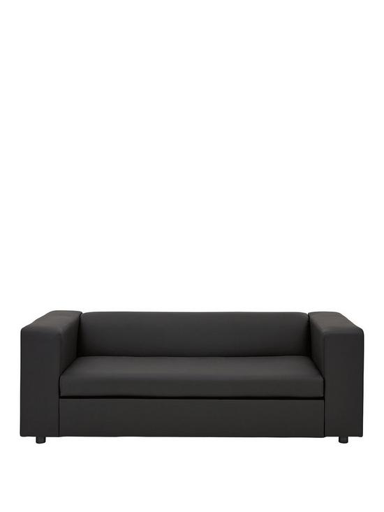 Remarkable Clarke Faux Leather Sofa Bed Complete Home Design Collection Barbaintelli Responsecom