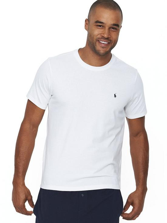 d37003029 Polo Ralph Lauren Mens Single Logo T-shirt - White | very.co.uk