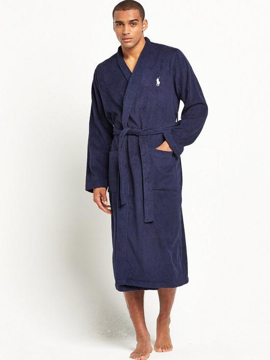 Polo Ralph Lauren Mens Towelling Kimono Robe | very.co.uk