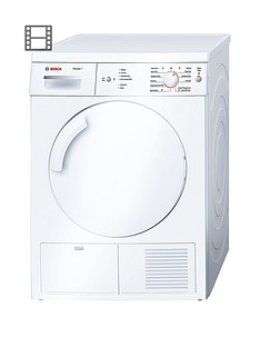 Bosch Classixx WTE84106GB 7kg Load Condenser Tumble Dryer with Sensitive Drying System - White