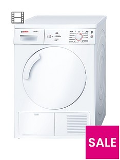 Bosch Serie 6 Classixx WTE84106GB 7kg Load Condenser Tumble Dryer with Sensitive Drying System - White
