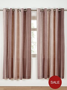 century-spot-and-stripe-tab-top-curtains-chocolate