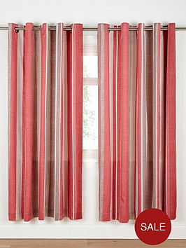 century-spot-and-stripe-tab-top-curtains-red