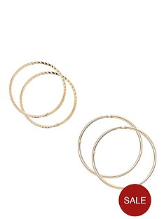 love-gold-9-carat-yellow-gold-set-of-two-crimped-tube-hoops