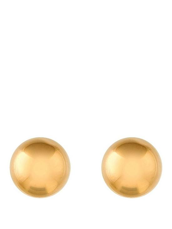 043e62106 Love GOLD 9 Carat Yellow Gold 5 mm Ball Stud Earrings | very.co.uk