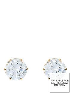 love-gem-9-carat-yellow-gold-4-mm-round-white-cubic-zirconia-stud-earrings