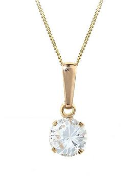 love-gem-9-carat-yellow-gold-6-mm-round-white-cubic-zirconia-pendant
