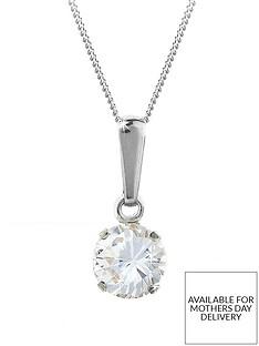 love-gem-9-carat-white-gold-6mm-round-white-cubic-zirconia-pendant