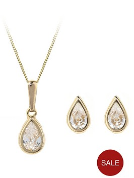 love-gold-9-carat-yellow-gold-pear-shaped-earring-and-pendant-birthstone-set