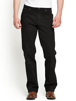 Mens Texas Stretch Straight Jeans  Black