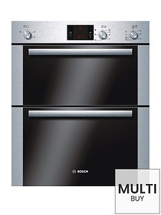 bosch-hbn13b251b-classixx-60cm-built-under-double-hot-air-oven-brushed-steel