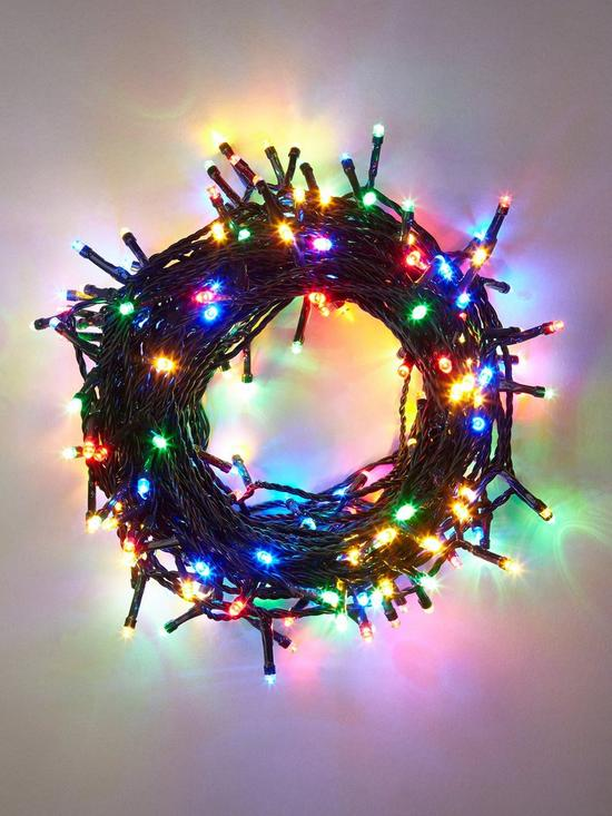 240 super bright multi coloured indooroutdoor led christmas lights verycouk
