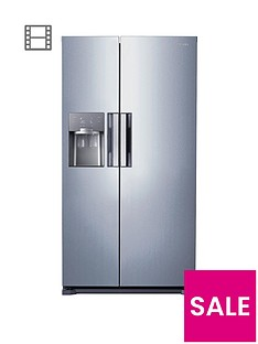 Samsung RS7667FHCSL/EU Frost-Free American-Style Fridge Freezer with ClearView Icemaker - Silver