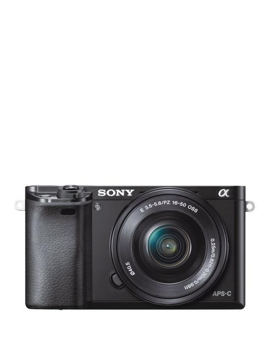 A6000 Compact System Camera with 16-50mm Lens - Black