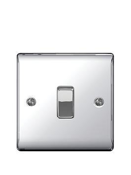 Photo of British general electrical raised 1g 2-way switch - polished chrome