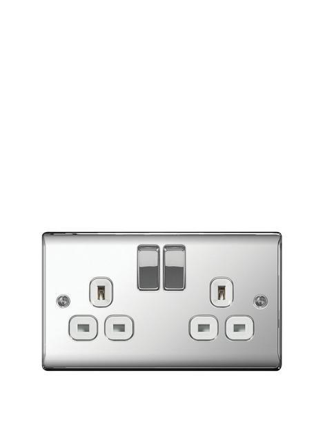 british-general-electrical-raised-2g-switched-socket-13-amp-polished-chrome