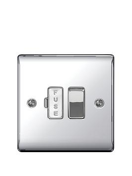Photo of British general electrical raised switched fused connection unit - polished chrome