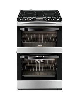 zanussi-zcv48300xa-55cm-ceramic-electric-double-oven-stainless-steel