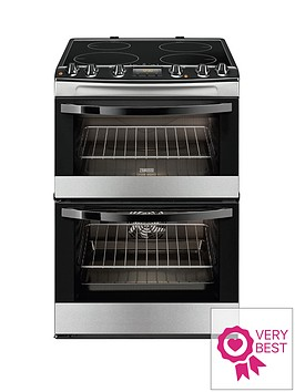 zanussi-zci68300xa-60cm-electric-induction-double-oven-stainless-steel