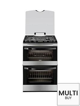 zanussi-avanti-zcg63200xa-60cm-double-oven-gas-cooker-stainless-steel