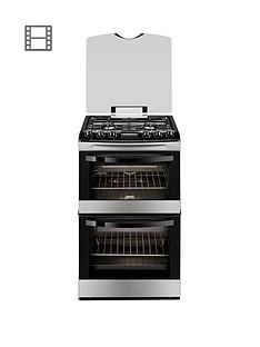 zanussi-zcg43200xa-55cm-gas-double-oven-stainless-steel
