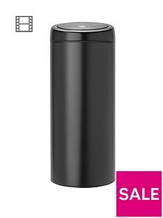 brabantia-30-litre-touch-bin-matt-black