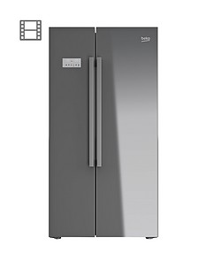 beko-asl141s-usa-style-fridge-freezer-silver