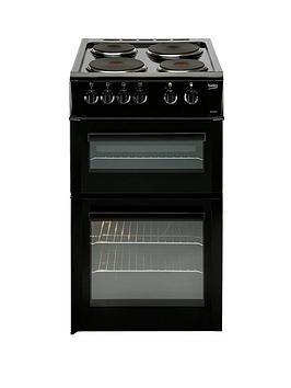 beko-bd533ak-50cm-freestanding-single-oven-electric-solid-plate-cooker-black