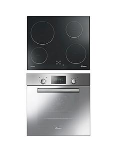 candy-acom609xm-single-fan-oven-with-60cm-ceramic-hob-steel