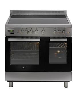 candy-ccv9d52x-90cm-electric-range-cooker-creamic-top-stainless-steel