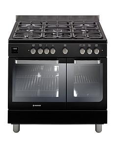 hoover-hgd9395bl-90cm-dual-fuel-range-cooker-twin-cavity-black