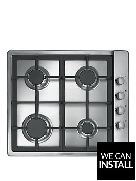 candy-clg64sgx-60cm-4-burner-gas-hob-with-cast-iron-pan-supports-and-side-control-knobs-with-optional-installation-stainless-steel