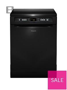 Hotpoint FDFEX11011KFull-Size 13-Place Dishwasherwith Quick Wash - Black