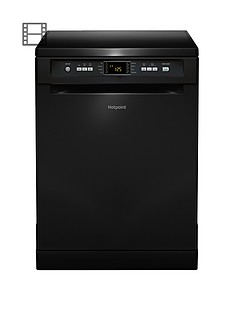 Hotpoint FDFEX11011K Full-Size 13-Place Dishwasher with Quick Wash - Black