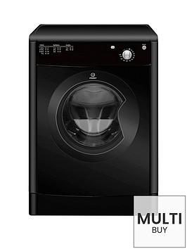 indesit-ecotime-idv75bk-7kg-load-vented-dryer-black