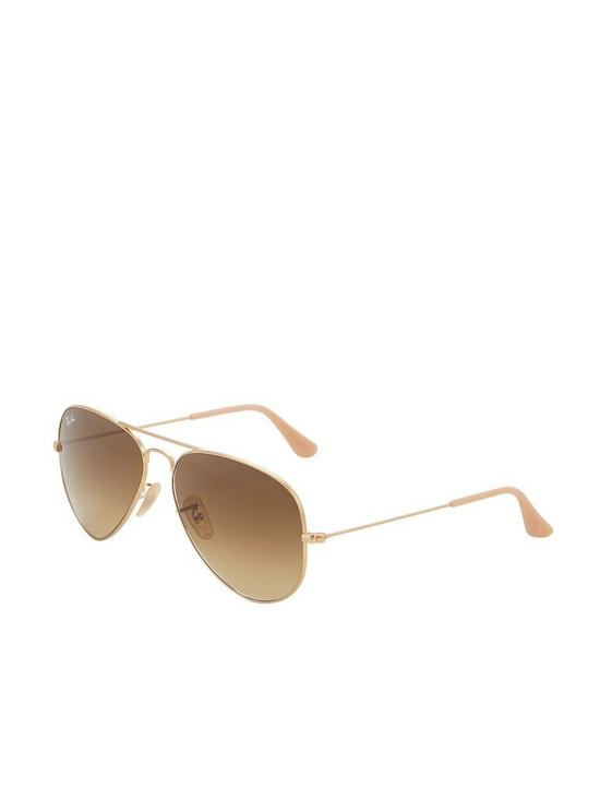 f767e9c999468 Ray-Ban Aviator Sunglasses - Rose Gold