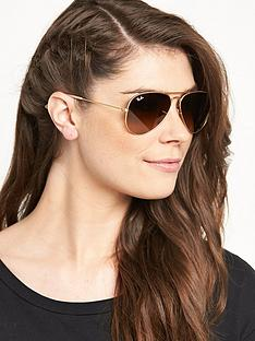 ray-ban-gradient-lensnbspaviator-sunglasses-rose-gold