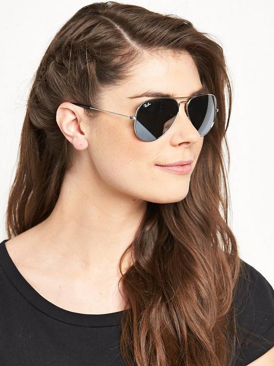 cc1db070e Ray-Ban Aviator Sunglasses - Silver | very.co.uk