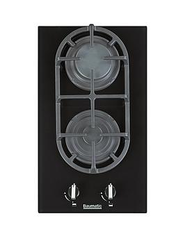 baumatic-bgg32-30-cm-gas-on-glass-hob-black