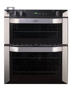 belling-bi70fp-60cm-built-under-double-fan-electric-oven-stainless-steel