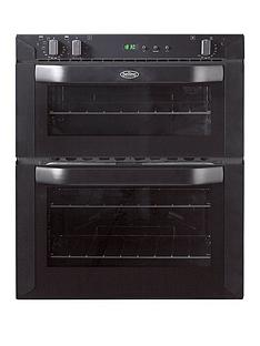 belling-bi70fp-60cm-built-under-double-fan-electric-oven-black