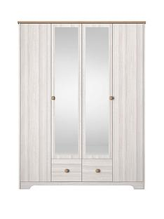 windsor-4-door-2-drawer-mirrored-wardrobe